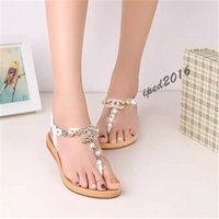 Wholesale summer shoes women sandals female channel rhinestone comfortable flats flip gladiator sandals party wedding shoes Free