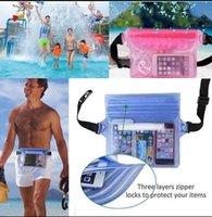 beach wallet waterproof - Unisex Waterproof Dry Pouch Pocket Waterproof Pouch with Waist Strap for Beach Waterproof Case Pouch Beach Dry Pouch Case Wallet LJJK512