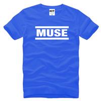 band t shirts free shipping - Muse t shirts Men muse t shirt Short Sleeve Cotton t shirts Tops Rock Band T Shirts SL