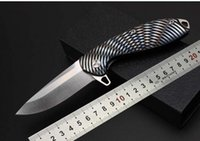 base camp tool - Tactical knife free base color titanium handle D2steel ball bearing flip knife outdoor camping tool