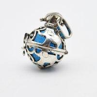prayer box charm - 10pcs Charm Lockets With Elephant Pendant Dream Ball Prayer Box Lockets Essential Oil Diffuser Necklace For Aromatherapy Jewelry XSH