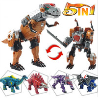 Wholesale Hot Sale Dinosaur Deformation Robot Building Blocks Anime Figure Model Transformation Dinosaur Kids Toys Gifts in
