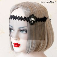 Wholesale Steampunk gear mesh lace mask Gothic Christmas dance party dress accessories million