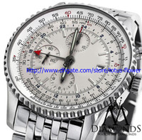 whites gmt - 2016 LUXURY WATCH wristwatch BRAND NEW World GMT White Face Chronograph A24322 mm Watch Automatic Watch With BOX Men s Watches