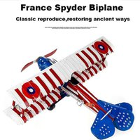 Wholesale France spyder tin biplane coloured drawing or pattern Retro photography props fighter model