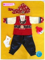 Wholesale HANBOK Dolbok Korean Hanbok Baby Boy st Birthday Outfit Hanbok Korean Traditional Costume Ready Made Kid Hanbok Set