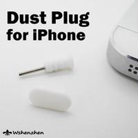 al por mayor enchufe del auricular iphone-Enchufe a prueba de polvo del casquillo del oído del receptor de cabeza del tapón del enchufe del muelle del polvo del silicón TPU para el iphone 5 iphone5 iphone 5s android