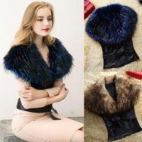 Wholesale 2016 new high grade belt Imitation fur leather vest Maomao turf vest vest PU coat