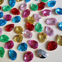 Wholesale 2016 new water drop shape acrylic rhinestones jewelry accessories loose diamonds DIY sew on rhinestones Z008