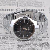 al por mayor ls reloj de acero-Alarma de la vendimia de los hombres de acero inoxidable Cronómetro digital reloj de pulsera de la muñeca con estilo elegante reloj de pulsera * LS reloj MHM518 # A2