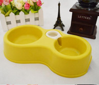 Wholesale Automatic Feeders Dog Bowls Cat Bowls plastic dogs bowl cats bowl colorful with drinking Food Storage