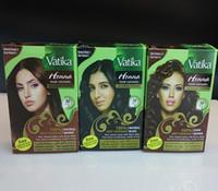 Wholesale 30 minutes fast dye Vatika Henna Hair Colors Powder Hair Dye x g Sachets in Box Grams