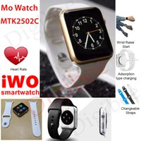 apple mo - New MTK2502C Bluetooth Smart Watch IWO Smartwatch MO Watch Heart Rate Sleep Tracker for IOS Android Smartphone relogio inteligente reloj