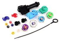 beyblade string launcher toy set - 50set OPP Pacing Free DHL New Beyblade Metal Fusion Super String Rip Cord Launcher Children Favor Spinnig Toy Set Kid s Toys