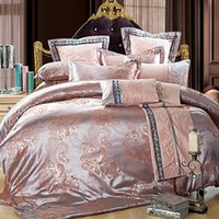 Wholesale Down Comforter Time limited New King Twin Best Selling Cotton Floral Print Jacquard Sateen Pieces Duvet Cover SetsQualified