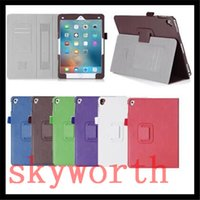 air china credit card - Magnetic Flip Folio Leather case Stand for ipad pro ipad air with Hand Holder Credit Card Slot