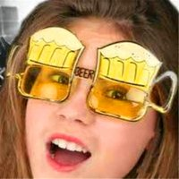 beer sunglasses - Halloween Adult Cosutmes Sunglasses x8cm Funny Fashion Beer Party Glasses Holiday Glasses Dances Festivals Party Supplies Decoration