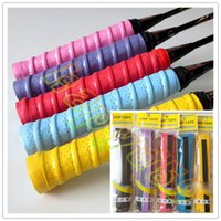 Wholesale Tennis Racket Overgrips Anti skid Sweat tape Absorbed Wraps Badminton Racquet OverGrip Fishing Tenis Skidproof Sweat Band grip colour