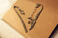 Wholesale Retro Alloy Metal Bookmark Mermaid Beaded or Genius Butterfly Fashion Vintage Bookmark