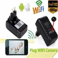 Wholesale Wireless HD P MINI WIFI US Charger SPY Mini Hidden Camera Motion Detection H Video Recorder for android and ios FREE DHL