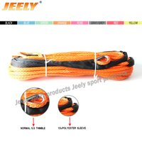 Wholesale mm m lbs synthetic winch rope12 weave for ATV UTV SUV X4 WD Off road tow strap racing
