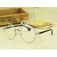 Wholesale Special Circular Glasses Metal Retro Frame Harry potter High Quality Plastic Optical Lenses Scholar Temperament Sunglasses Frames