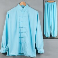 Wholesale The New Autumn Tai Chi Clothing Cotton With Silk Smooth Traing and Stage Dance Martial arts Suits