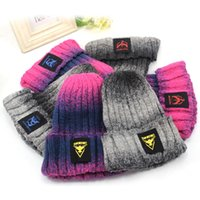 benie man - Winter Beanie Skull Caps benie hat Active Gradient warm knitted hat Casual For Woman man