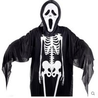 best ghost costume - best selling new Halloween costume dress gloves ghost skeleton skull devil mask cosplay adult one size cloth cover