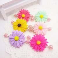 baby hair pulling - 2015 New Lovely Children Hair Accessories Flower Hair Pull Clip Mix Colors Pinch Cock Baby Hairpins30pcs HRLJ