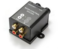 Wholesale 4 gold plated RCA s Car Amplifier Bass Controller Hz Hz RCA Gain Level Volume Knob Booster