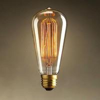 antique reproduction lighting - Edison Vintage Antique ST64 V W E27 Light Ceiling Bulb Lighting Reproduction Droplight Incandescent Home