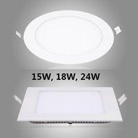 Wholesale 10PCS W W W V V CE RoHs Certification Super thin LED Panel Light recessed LED Downlight