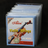 Wholesale 20 Sets Alice A703 Stainless Steel Core Nickel Silver Wound Violin Strings
