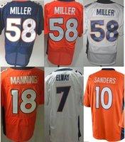 bailey broncos - BRONCOS MANNING DECKER THOMAS MILLER ROBY BAILEY McGAHEE SANDERS Men Football Jerseys Accept Mix Order
