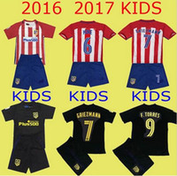 atletico madrid shirts - Atletico Madrid Kids Jersey GRIEZMANN home away F TORRES thai quality Atletico Madrid childrens football shirt soccer jersey