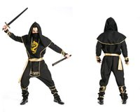 assassins outfit - Adult fantasy of deluxe custom men halloween Medieval Assassin gladiator Ninja cosplay costumes party outfits suit