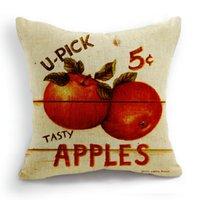 apples pillows - 45CM Cushion Cover Pillow Case Throw Home Sofa Decorative Fruit Apple