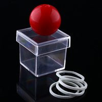 Wholesale New Amazing Funny Ball Through Clear Box Illusion Magic Magician Trick Game