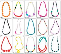 Wholesale 2016 Moms necklaces Bohemian mum Beads Silicone teething necklace Infants Baby chew jewellery Colorful Baby toys Nursing love Gifts