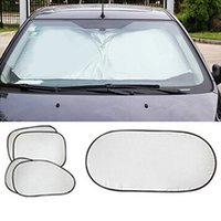 Wholesale 6pcs set New Car Window Sun Shade Car Windshield Visor Cover Block Front Window Sunshade UV Protect Car Window Film