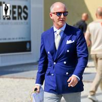 UR Royal Blue Party veste formelle pantalons Derniers dessins Costume Homme Tuxedo Mariage Suits Groom Suits Prom Suits Slim Fit Blazer hommes Costumes