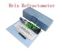 Wholesale Hand Held Brix Refractometer For Sugar Beer Brix Test Optical Brix ATC Refractometer Meter With Retail Box