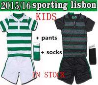 Wholesale TOP thai season Lisbon sporting Home Away Kids Jersey sporting children jerseys have socks customized
