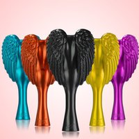 Wholesale 6pcs New Direct Selling cm Tangle Angel Detangling Hair Brush The Professional Antibacterial Anti static Salon Brushes