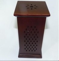 Wholesale Hot sale Flat Wooden smoked incense burner