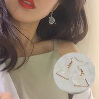 Wholesale Korean fashion minimalist style simple triangle earrings earrings South Korea female temperament fashion accessories