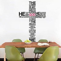 Wholesale God Wall Vinyl Sticker Decal Cross Jesus Christ Psalm Pray Bible Bedroom Mural