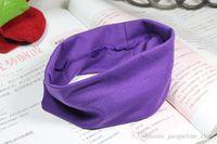 Wholesale DHL Free Stretch Headband Sports Yoga Head Band Colorful Hairband Sweat Head Wrap leisure Stretch Bandanas