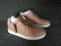 best silk fabric - 2016 New Air Retro I s Low No Swoosh Swooshless Pink Women Basketball Shoes womens sports shoes best Quality size